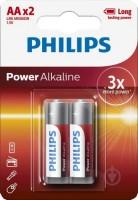 Аккумулятор / батарейка Philips Power Alkaline  2xAA