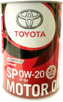 Моторное масло Toyota Motor Oil 0W-20 SP/GF-6A Synthetic 1л