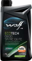Моторное масло WOLF Ecotech 0W-20 SP/RC G6 FE 1л