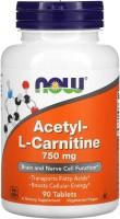 Спалювач жиру Now Acetyl L-Carnitine 750 mg 90 cap 90шт
