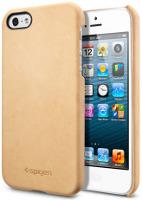 Чехол Spigen Genuine Leather Grip for iPhone 5/5S