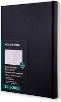 Ежедневник Moleskine 18 months Weekly Planner Soft Large Black
