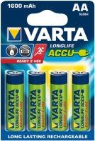 Фото - Аккумуляторная батарейка Varta LongLife 4xAA 1600 mAh