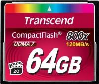 Карта памяти Transcend CompactFlash 800x  64ГБ
