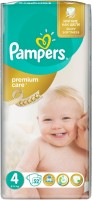 Подгузники Pampers Premium Care 4 / 52 pcs