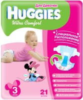 Подгузники Huggies Ultra Comfort Girl 3 / 21 pcs