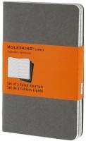 Блокнот Moleskine Set of 3 Ruled Cahier Journals Pocket Grey