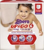 Подгузники Libero Up and Go 6 / 62 pcs