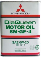 Моторное масло Mitsubishi DiaQueen 0W-20 SM/GF-4 4L