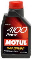 Моторное масло Motul 4100 Power 15W-50 1L