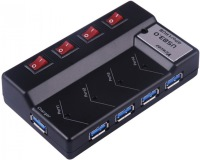 Картридер/USB-хаб Viewcon VE324