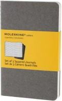 Блокнот Moleskine Set of 3 Squared Cahier Journals Pocket Grey