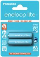 Аккумуляторная батарейка Panasonic Eneloop Lite  2xAA 950 mAh