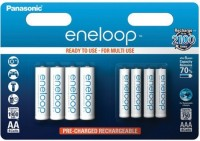 Аккумуляторная батарейка Panasonic Eneloop 4xAA 1900 mAh + Eneloop 4xAAA 750 mAh