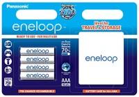 Фото - Аккумулятор / батарейка Panasonic Eneloop  4xAAA 750 mAh + case