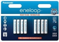 Аккумуляторная батарейка Panasonic Eneloop  8xAAA 750 mAh
