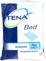 Подгузники Tena Bed Underpad Plus 60x60 / 5 pcs