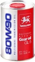 Трансмиссионное масло Wolver Multigrade Hypoid Gear Oil GL-5 80W-90 1L