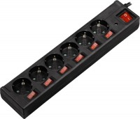 Сетевой фильтр / удлинитель Hama 00121946 1.4м  черный