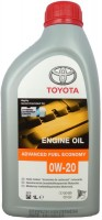 Моторное масло Toyota Advanced Fuel Economy 0W-20 1л