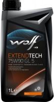 Трансмиссионное масло WOLF Extendtech 75W-90 GL5 1л