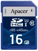 Карта памяти Apacer SDHC UHS-I 95/45 Class 10 16Gb