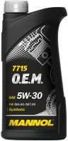 Моторное масло Mannol 7715 O.E.M. 5W-30 1L