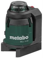 Нивелир / уровень / дальномер Metabo MLL 3-20 20м, держатель