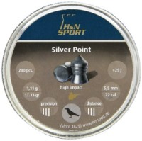 Кулі й патрони Haendler & Natermann Silver Point 5.5 mm 1.11 g 200 pcs