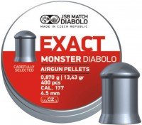 Пули и патроны JSB Exact Monster Diabolo 4.5 mm 0.87 g 400 pcs