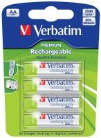 Аккумуляторная батарейка Verbatim Premium 4xAA 2500 mAh