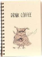 Блокнот Kraft  Notebook Drink Coffee