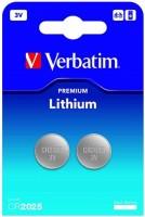Фото - Аккумулятор / батарейка Verbatim Premium 2xCR2025