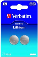 Фото - Аккумулятор / батарейка Verbatim Premium 2xCR2016