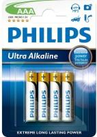 Аккумуляторная батарейка Philips Ultra Alkaline  4xAAA