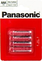 Фото - Аккумулятор / батарейка Panasonic Red Zink 4xAAA