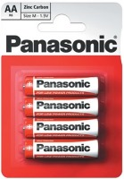 Фото - Аккумулятор / батарейка Panasonic Red Zink 4xAA