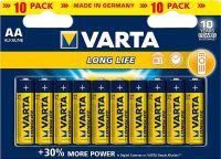 Фото - Аккумулятор / батарейка Varta  LongLife Extra 10xAA
