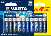 Фото - Аккумуляторная батарейка Varta High Energy  12xAA