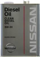Моторное масло Nissan Clean Diesel Oil 5W-30 DL-1 4L