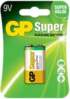 Аккумуляторная батарейка GP Super Alkaline 1xKrona