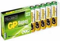 Аккумуляторная батарейка GP Super Alkaline 10xAAA