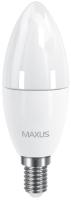 Лампочка Maxus 1-LED-533 C37 CL-F 6W 3000K E14
