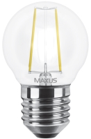 Лампочка Maxus 1-LED-545 G45 FM 4W 3000K E27