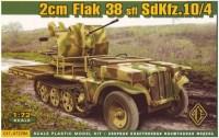 Фото - Сборная модель Ace 20mm Flak 38 sfl SdKfz.10/4 (1:72)