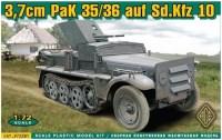 Сборная модель Ace 37mm PaK 35/36 auf Sd.Kfz 10 (1:72)