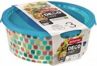 Пищевой контейнер Curver Deco Chef 0.5L+1.2L+2L