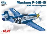 Сборная модель ICM Mustang P-51D-15 (1:48)