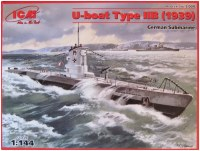 Сборная модель ICM U-Boat Type IIB (1939) (1:144)