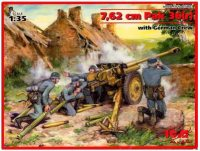 Фото - Сборная модель ICM 7.62 cm Pak 36(r) with German Crew (1:35)